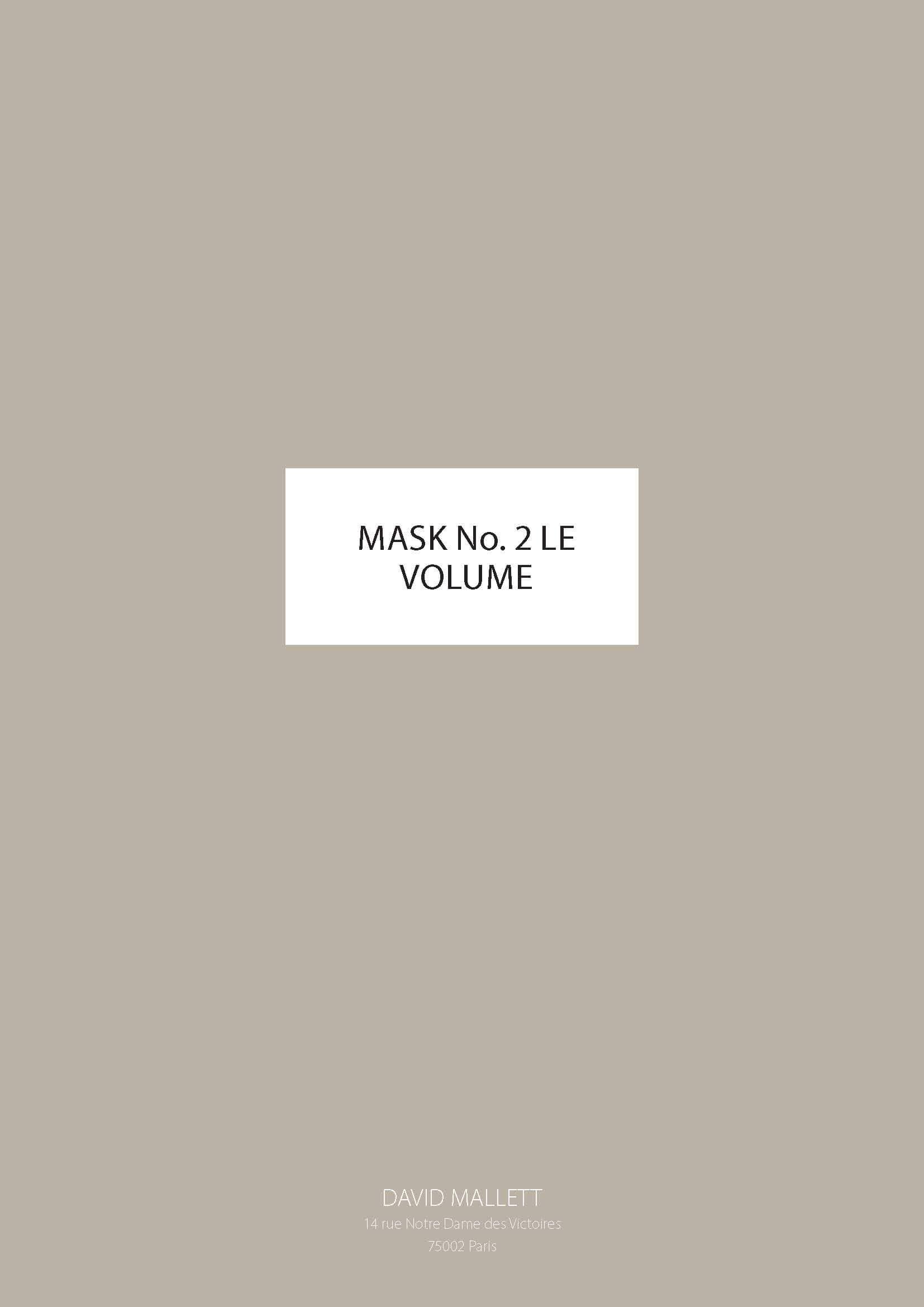 Mask No.2 LE VOLUME ENG