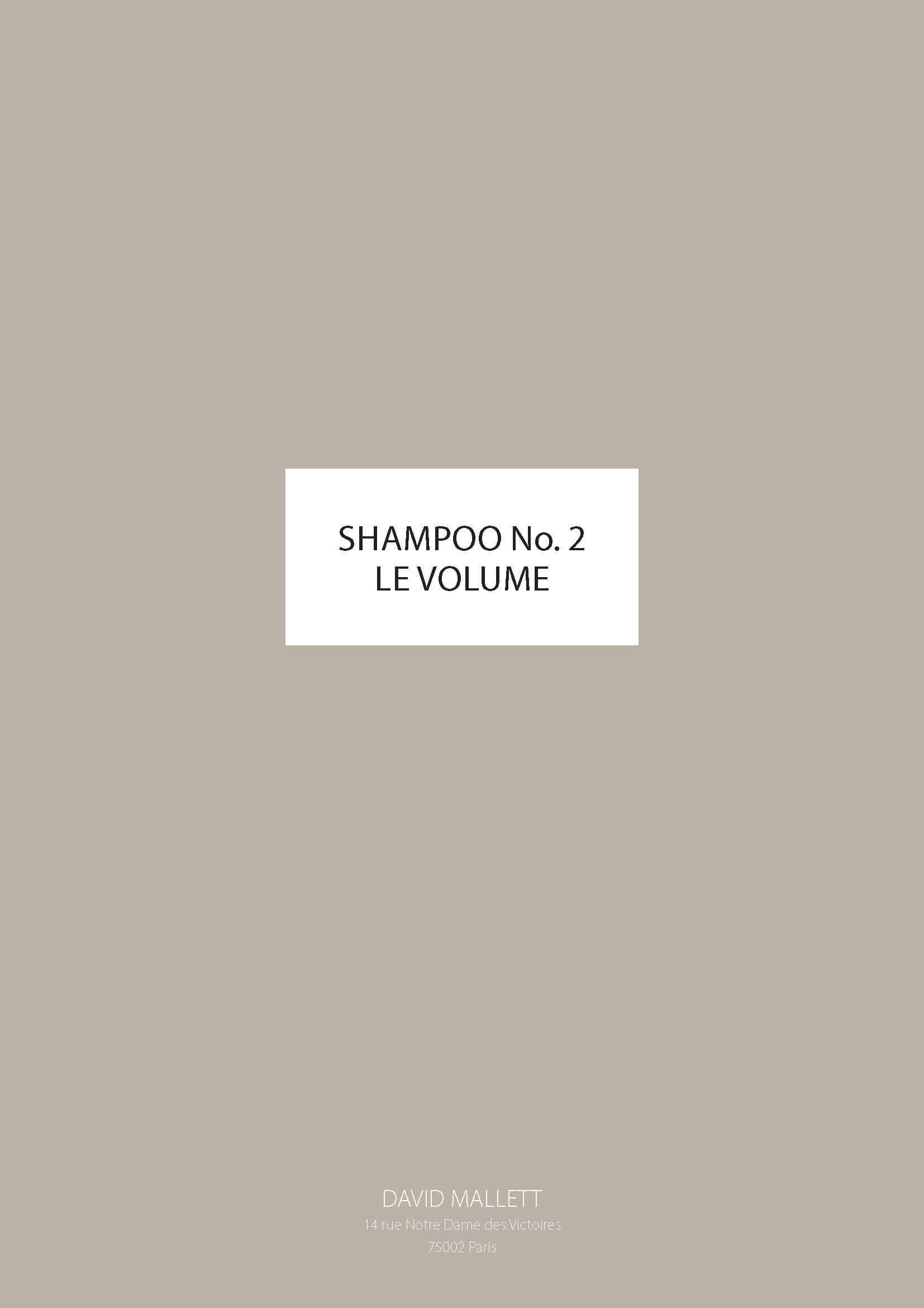 Shampoo No.2 LE VOLUME FR
